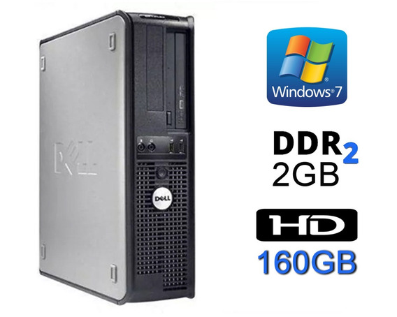 Cpu Dell Optiplex Core2duo / 2gb Ddr2 / Hd 160 + Monitor 17