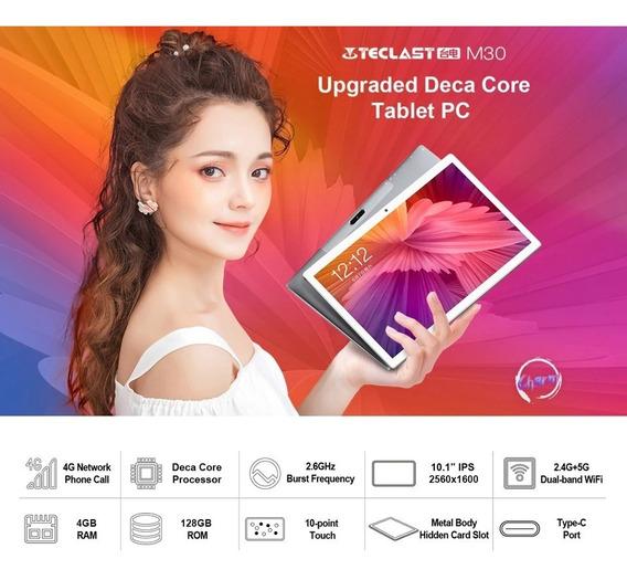 Tablet Teclast M30 128gb 4gbram Dual Chips. Rápido E Estável