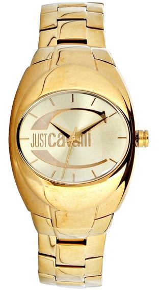 Relógio Feminino Original Dourado Just Cavalli 18k Lindo Nov