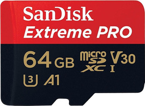 Cartão Micro Sd Sdxc Sandisk Extreme Pro 64gb 100mb/s U3 A1