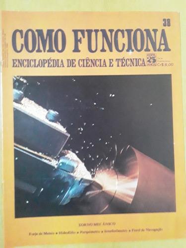 Pl163 Revista Fasc Como Funciona Nº38 Torno Mecânico