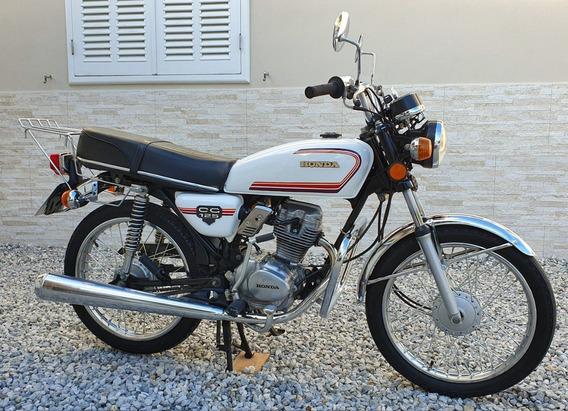 Moto Honda Cg 125 Bolinha 1981 Raridade