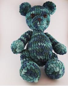 Urso De Crochê Veludo
