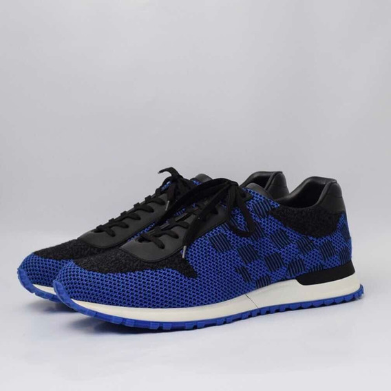 Tênis Louis Vuitton Run Away Sneakers Damier Azul (42 Br)
