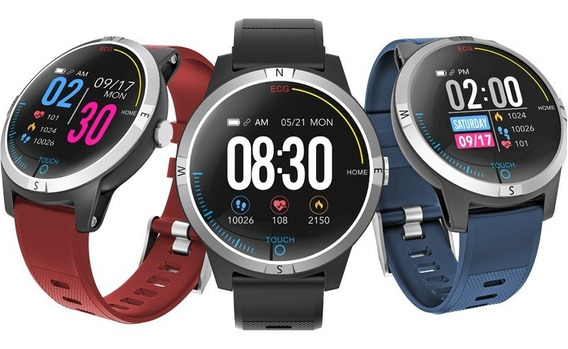 Ecg Ppg Hrv Detect Smart Watch Display Whatsapp Message Azul