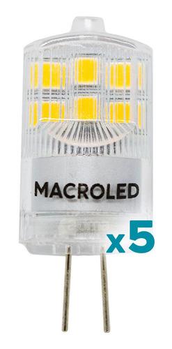 Lampara Led Bipin G4 12v 2w=20w Macroled Fría/cálida Pack X5