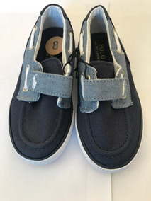 Tênis Infantil Polo Ralph Lauren Azul/cinza Original Usa