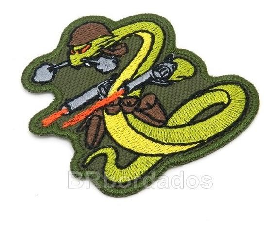 Eml072 Cobra Belicosa Feb 7,1x7cm 2ª Guerra Patch Bordado