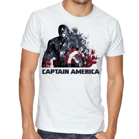 Camiseta Camisa Blusa Tamanho Capitão América Marvel Desinte