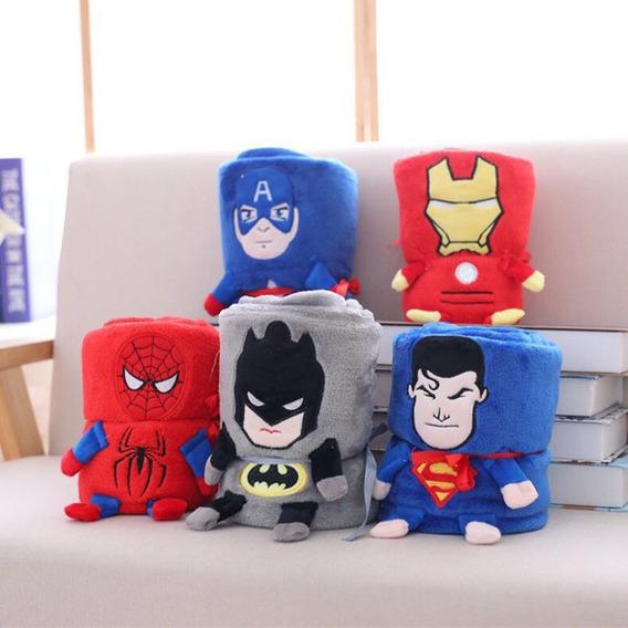 Manta Bebê Cobertor Infantil Batman Super Homem Spider Herói
