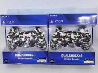 Joystick Play 3 Sony Original Bluetooth Inalam Camuflado Env