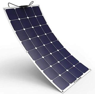 Painel Placa Solar Flexível 100w Motor Home Lancha Trailler