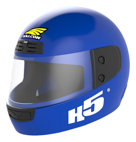 Casco Moto Halcon H5 Integral Azul Tienda Oficial