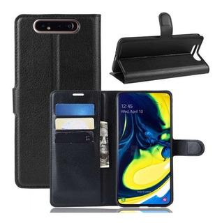 Samsung Galaxy A90 - Funda Cartera Piel Tarjetero
