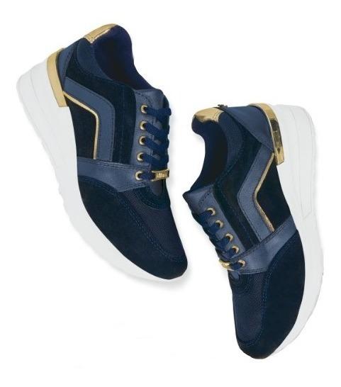 Calzado Zapato Cómodo Dama Mujer Confort Piel Genuina Azul