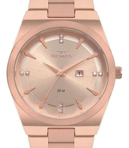 Relógio Technos Feminino Rose Fashion Trend 2015cda/4t + Nfe