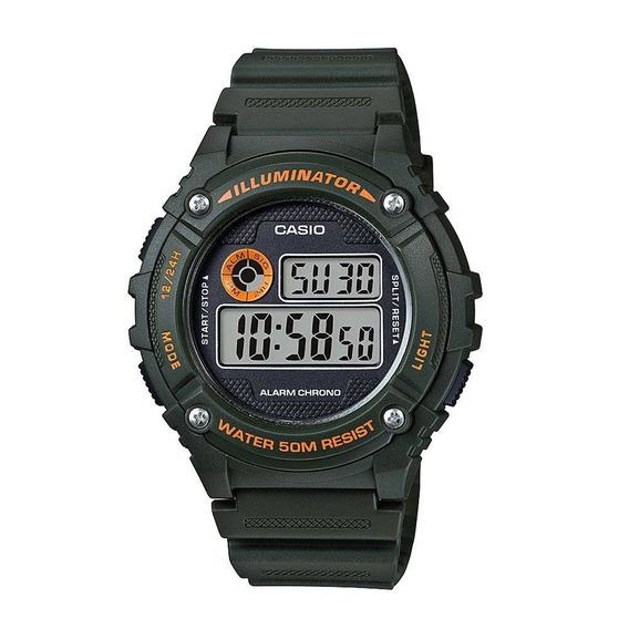Relógio Masculino Casio Digital Esportivo W-216h-3bvdf Novo