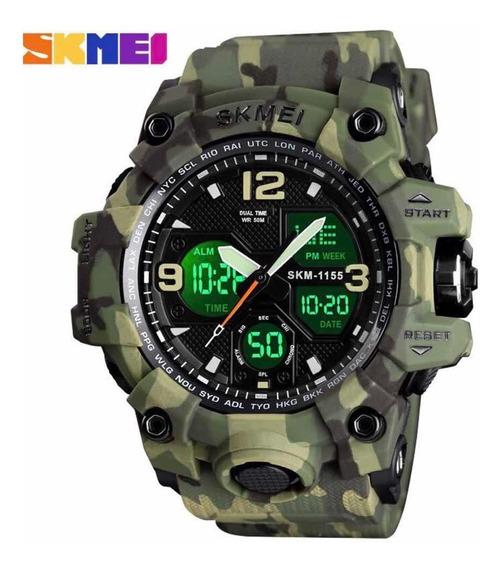 Relógio Skmei 1155 Esportivo Camuflado A Prova D Água Barato