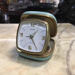 Relógio Com Despertador Europa Antigo Dobrável 214