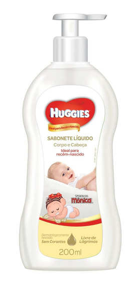 Sabonete Liquido Huggies Primeiros 100 Dias - 200ml