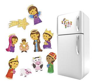 Imanes Para Refrigerador Nacimiento 10pzas Krm2d Fuller