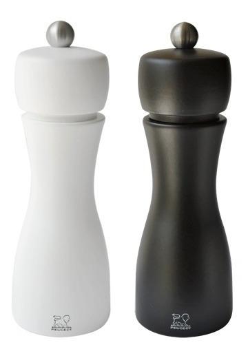Set X 2 Molinillos Pimienta Sal Peugeot Tahiti 15cm Black/white