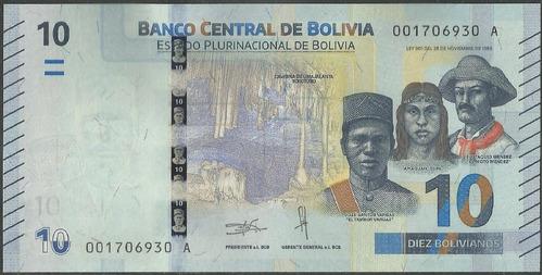 Bolivia 10 Bolivianos Nd2018 P248