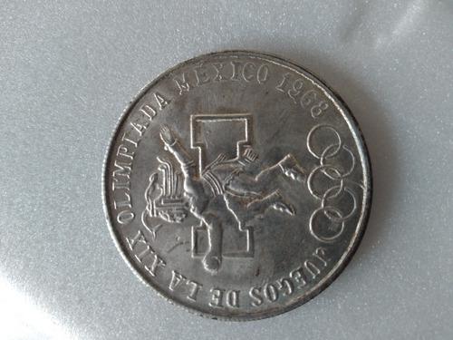 Imagen 1 de 2 de Moneda Juegos De Xix Olimpiada Mexico 1986