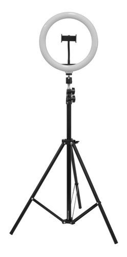 Ring Light 10 Pol Iluminador Tripé 2m C/ Suporte De Celular