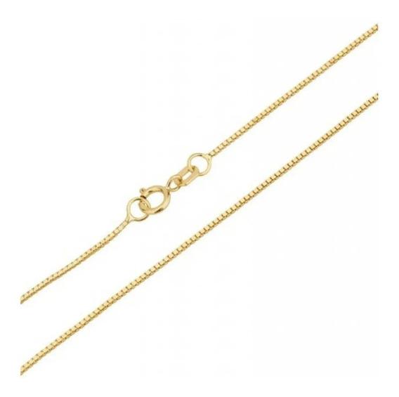 Gargantilha Corrente Colar Veneziana Ouro 18k 45 Cm