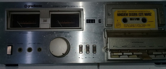 Tape Deck Gradiente Cd2800 Cassete Funcionando
