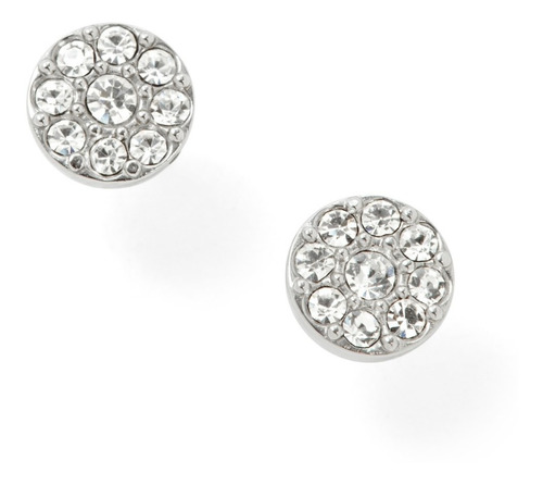 Aretes Dama Fossil Pave Disk Jf00828040 Color Plata
