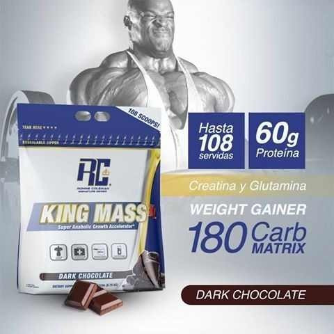 King Mass 10 Lb Whey Isolate Creatina Glutamina Bcaa Ganador