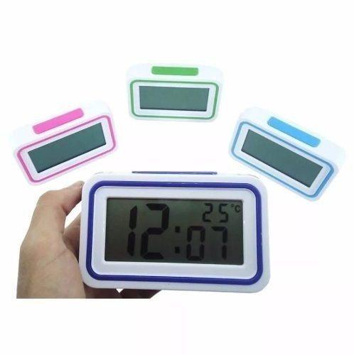 Relógio De Mesa Digital Termometro E Despertador