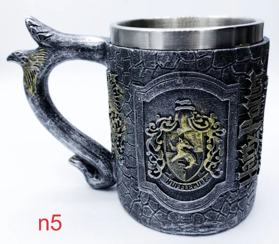 Caneca Harry Potter Hogwarts 4 Casas 3d Chopp