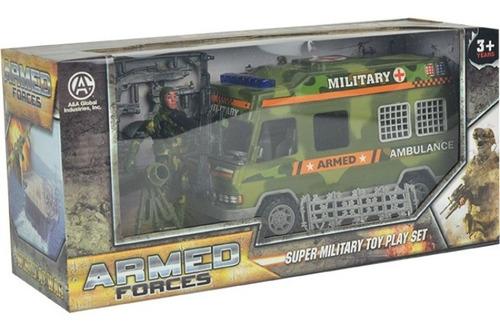 Combo Militar Incluye Ambulancia Soldado Y Cañón Mas Armas