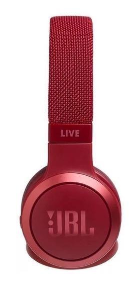Fone De Ouvido Bluetooth Live 400bt Jbl Vermelho