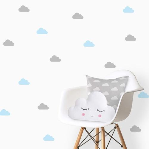 Imagem 1 de 7 de Adesivos Decorativos, Nuvens 10x5cm 50 Unidades Nuvem