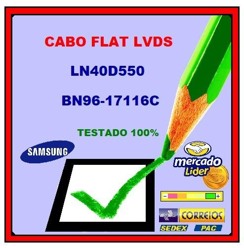 Cabo Flat Lvds Samsung Ln40d550 / Bn96-17116c