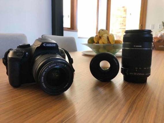 Câmera Canon T6 Rebel Wi-fi + Premium Kit