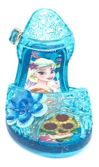 Zapatilla Sandalia Frozen Elsa Y Ana Tipo Cristal Regina