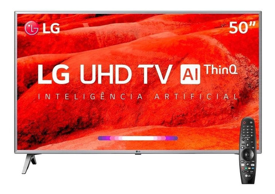 Smart Tv 50 Lg 50um7500psb 4k Com Wi-fi, 2 Usb, 4 Hdmi, Thinq Ai E 60hz