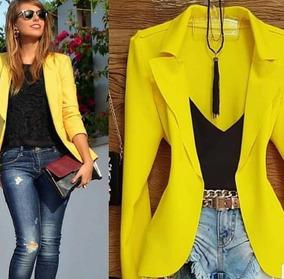 e2f8f3f4a3 Blazer Feminino - Casacos Amarelo no Mercado Livre Brasil