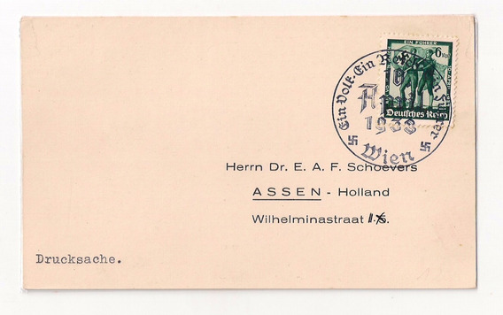 Alemania Reich Tarjeta Matasello Wien Año 1938