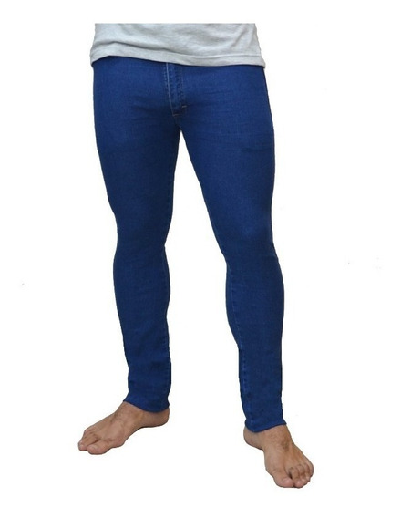 Pack X 3 Jeans Chupin Azul Stone Hombre X Mayor
