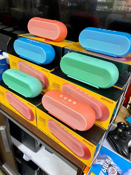Caixa De Som Bluetooth Portátil Fm/usb/sd Multimidia Macaron