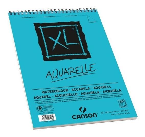 Bloco Espiral Xl Aquarelle A3 (29,7 X 42cm) 300g 30fl Canso