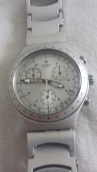 Reloj Swatch Plateado De Aluminio