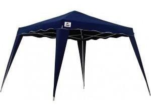 Tenda Gazebo 3 X 3 Poliester Dobrável Aluminio Azul