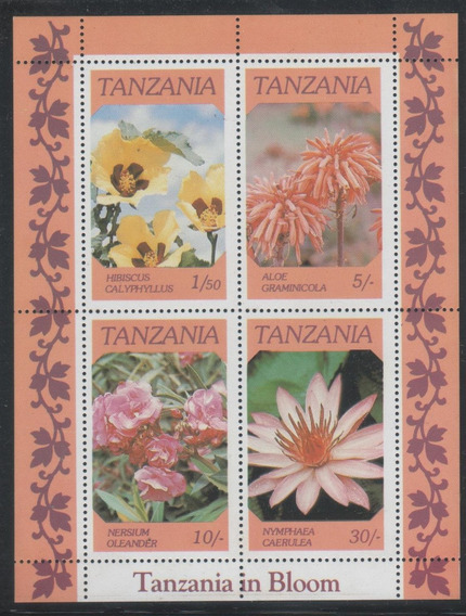 Estampillas Tanzania 1986 Flores Hb Mint